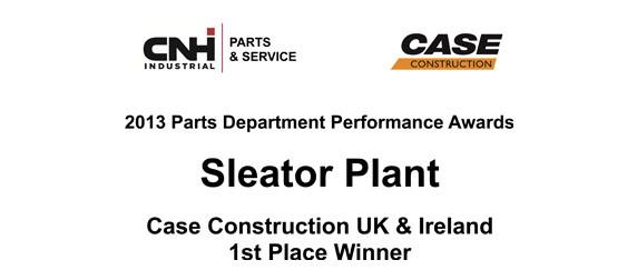 UK and Ireland Case Construction Parts Performance Award