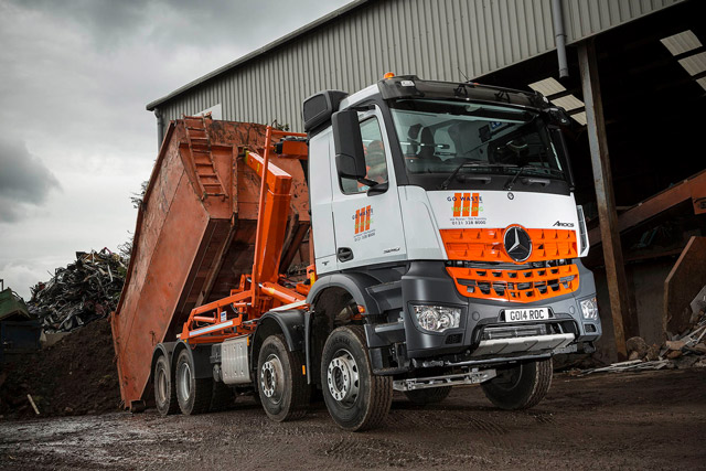 Go waste skips to a new beat with mercedes benz arocs for Mercedes benz montgomery road