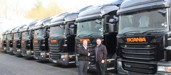 Approved Used Scania Fleet for Barnes Logistics