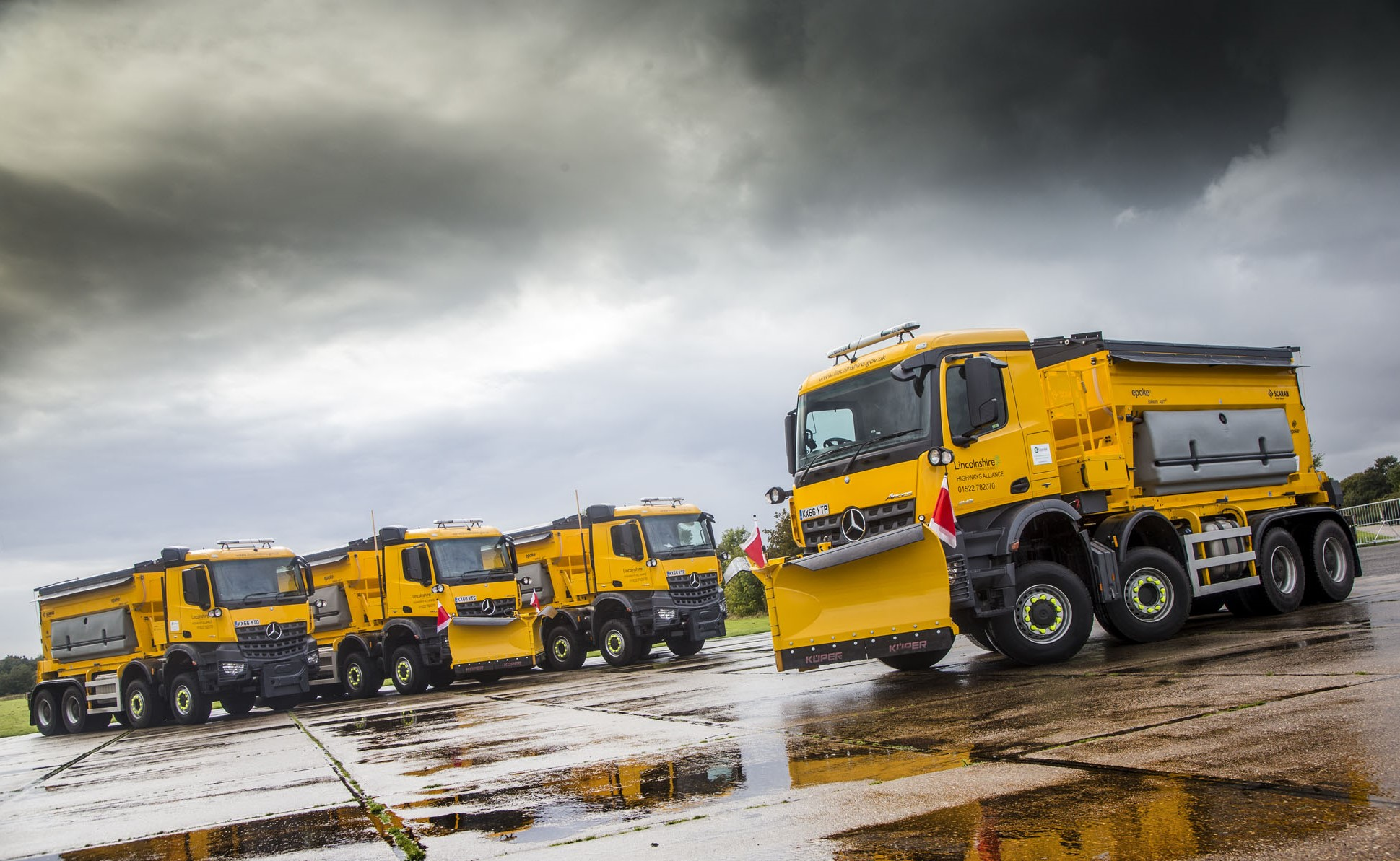 Ground Breaking Mercedes Benz Arocs Gritters Are Ready For
