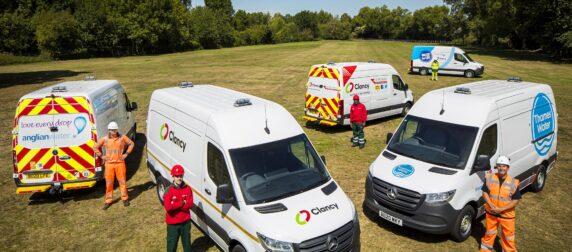 News from Midlands Truck & Van – Utilities contractor Clancy Group pipes in a new fleet of Mercedes-Benz Vans